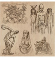 old and native art artworks - an hand drawn vector image