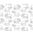 pattern hand drawn doodle sketch elephant vector image vector image