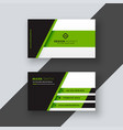 professional green business card template vector image vector image