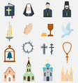 religion charity icons vector image vector image