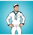 Sailor concept comics style vector image