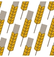 Seamless background pattern of an ear of wheat vector image vector image