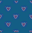 seamless pattern with gibbon monkey faces vector image vector image