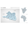 set burundi country isometric 3d map burundi vector image vector image