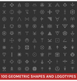 Set of 100 geometric hipster shapes13 vector image vector image