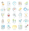 Set of 25 modern bussiness icons vector image