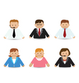 Set Of Business People Icons vector image