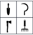 Set of Garden and Landscaping Tools Icons vector image vector image