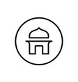 thin line mosque or mushola logo icon vector image vector image