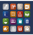 tools learning colorful icon set eps10 vector image vector image