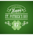 Typography St Patrick Day vector image vector image