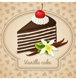 Vanilla layered cake poster vector image vector image