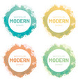 watercolor set banner modern art design vector image