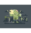 Zombies in cemetery night vector image vector image