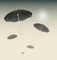 Many black umbrellas and rainy day background vector image