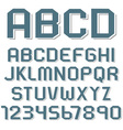Stickers of alphabet letters and numbers vector image