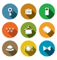 Hotel icon collection vector image