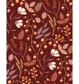 Autumn floral seamless pattern Fall autumn leaves vector image