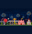 a night them park scene vector image