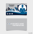Abstract creative business card template vector image vector image