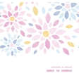 Abstract textile colorful flowers horizontal frame vector image vector image