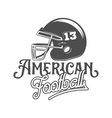 american football badges logo and labels vector image vector image