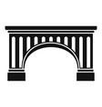 ancient bridge icon simple style vector image vector image