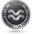 Aquarius zodiac silver sign virgo symbol vector image vector image
