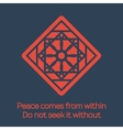 Asian religious ornament vector image vector image