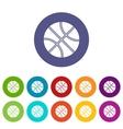 Basketball ball set icons vector image