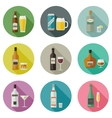 Beverages and drinks icons vector image vector image