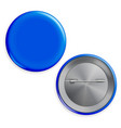 blank blue badge circle button badge set vector image vector image