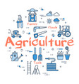 blue round agriculture concept vector image