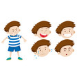 boy character with facial expression vector image vector image