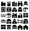 Building and Furniture Icons 12 vector image vector image