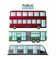 Bus cable car and railways vehicle design vector image vector image