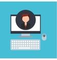 businessman community social network vector image vector image