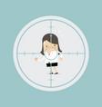 businesswoman in crosshairs vector image vector image