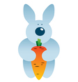 cartoon hare and carrot vector image