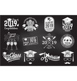 class 2019 badge concept for shirt vector image vector image
