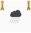 Cloud and rain vector image vector image
