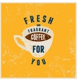 Coffee typographical vintage style poster vector image vector image