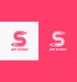 conceptual label and emblem art studio vector image vector image
