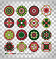 doodle collection ethnic flowers vector image vector image