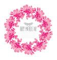 elegant floral wreath vector image vector image