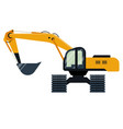 excavator industrial machinery icon isolated vector image