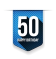 Fifty years happy birthday ribbon vector image