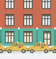 Flat Design Yellow Taxi vector image vector image
