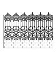 forged modular fence vector image