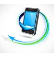 Futuristic cellphone vector image